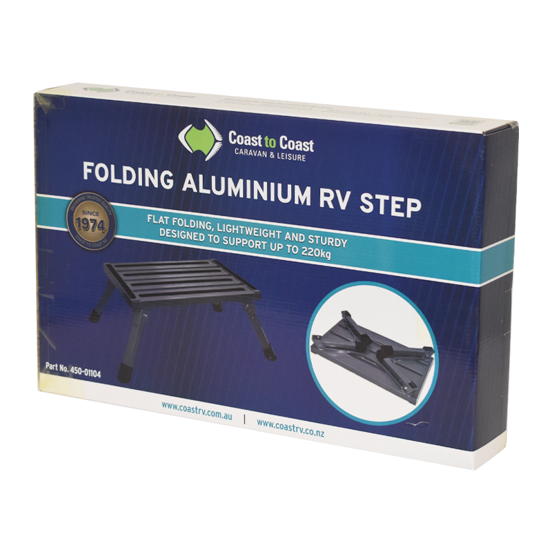 COAST Folding ALUMINUM RV Step (220kg Capacity)