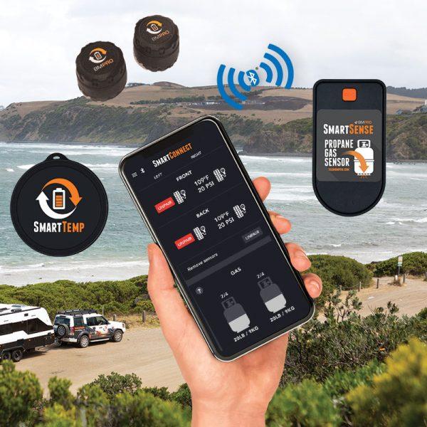 BMPRO SmartConnect - App Based Sensor Kit (2xTyre, 1xGas, 1xTemp