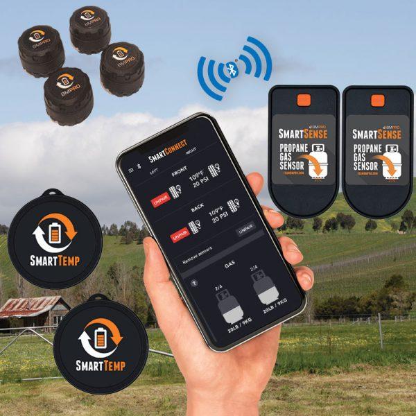 BMPRO SmartConnect Premium - App Based Sensor Kit (4xTyre, 2xGas, 2xTemp).