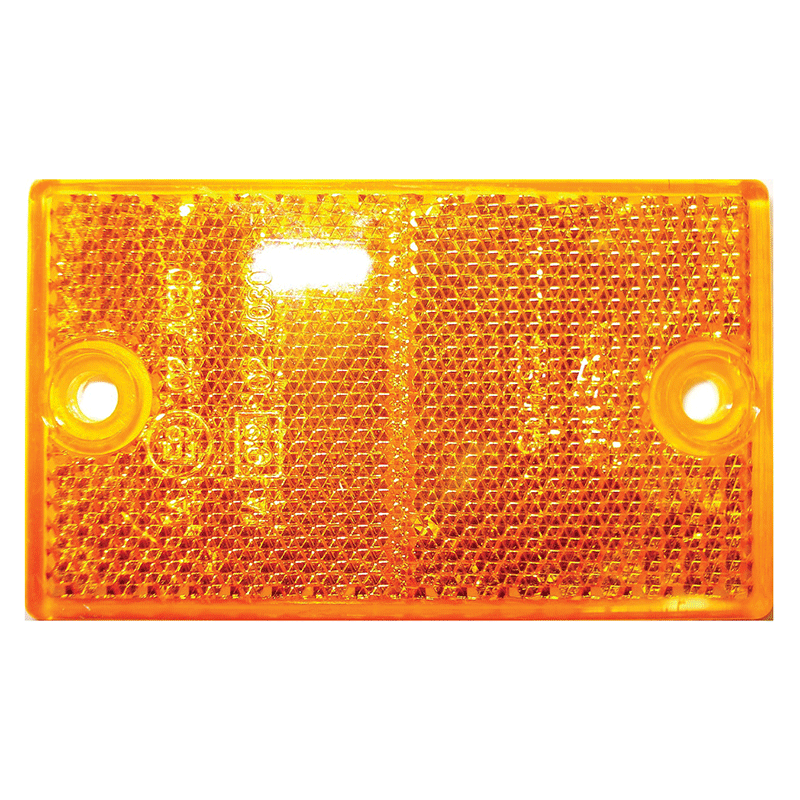 Coast Rectangular Screw Mount Reflector (Amber)
