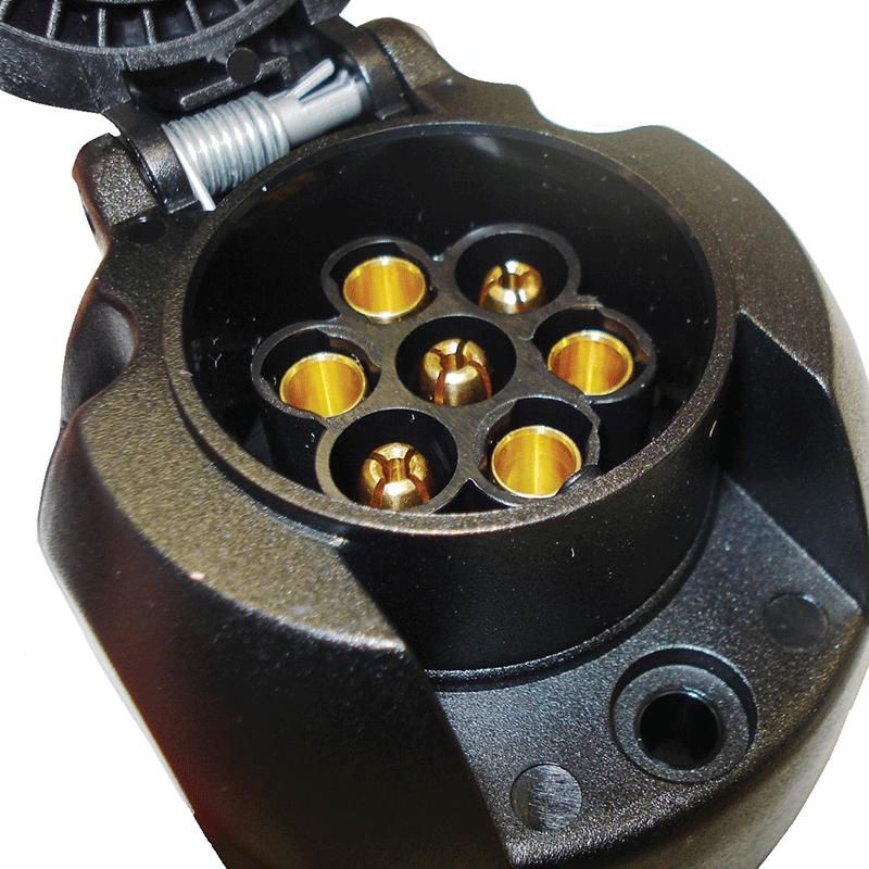 Narva Trailer Plug 7 Pin Large Round Plastic