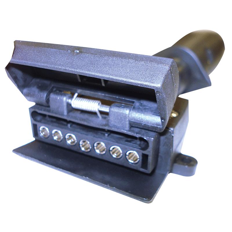 Narva Trailer Adaptor 7 Pin Large Round Car To 7 Pin Flat Van