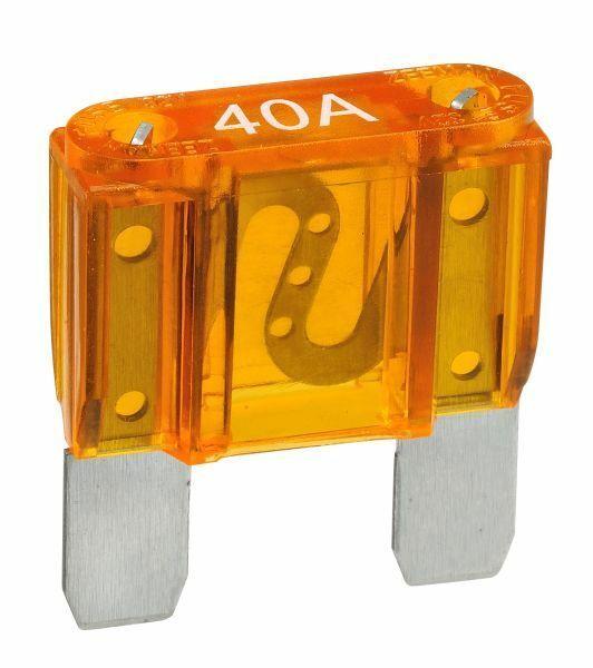 NARVA 40 Amp AMBER MAXI-Blade Fuse - 10 Per Box. 52940
