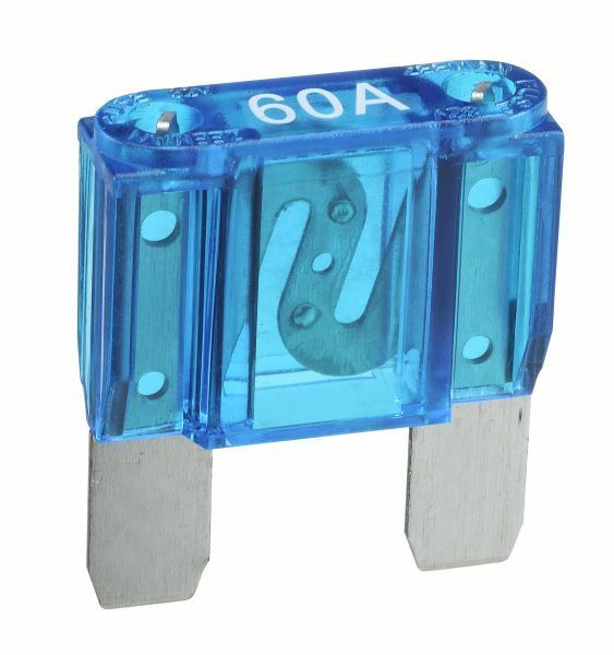 NARVA 60 Amp BLUE MAXI-Blade Fuse - 10 Per Box. 52960