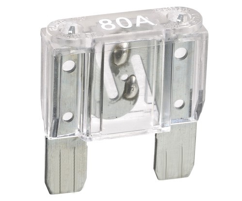 NARVA 80 Amp CLEAR MAXI-Blade Fuse - 10 Per Box. 52980