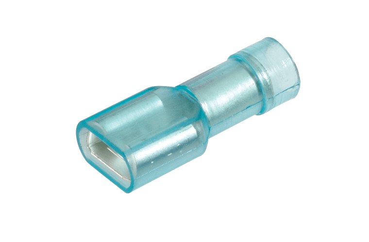NARVA 6.3x0.8mm Trans-BLUE Female Blade TERMINAL t/s 4mm - 100 Per Box. 56143