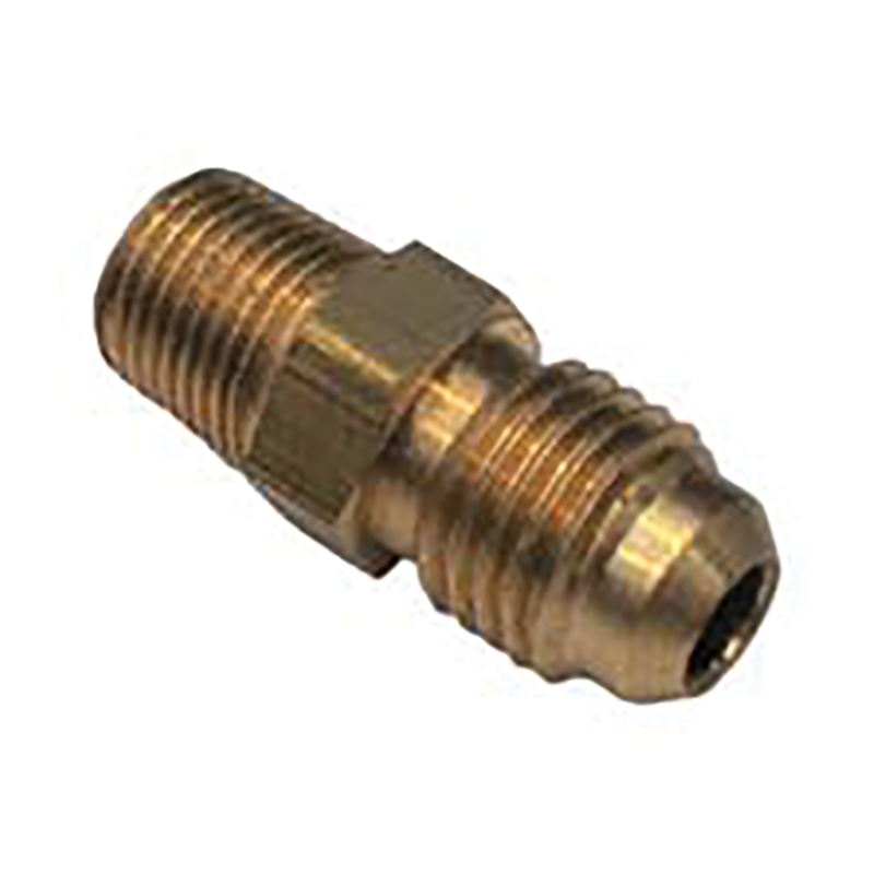 SAE 45 Degree Flare Brass Fitting Male Union 5/16 Tube 1/8 BSPT