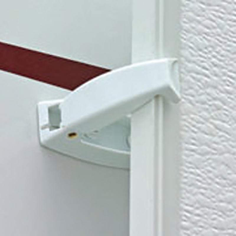 White Baggage Door Catch
