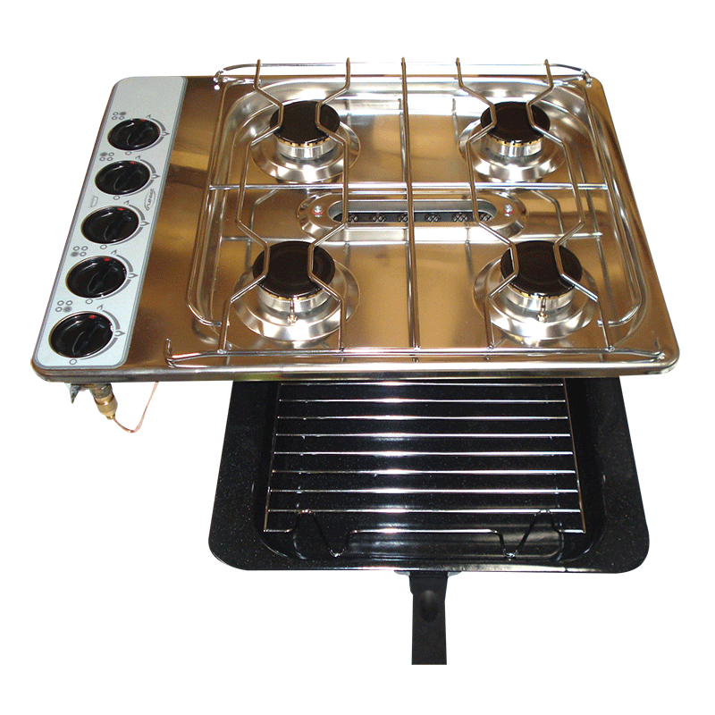 Spinflo Gas Cooktop-HOB 8 Series (4 Burner Grill) S/Steel