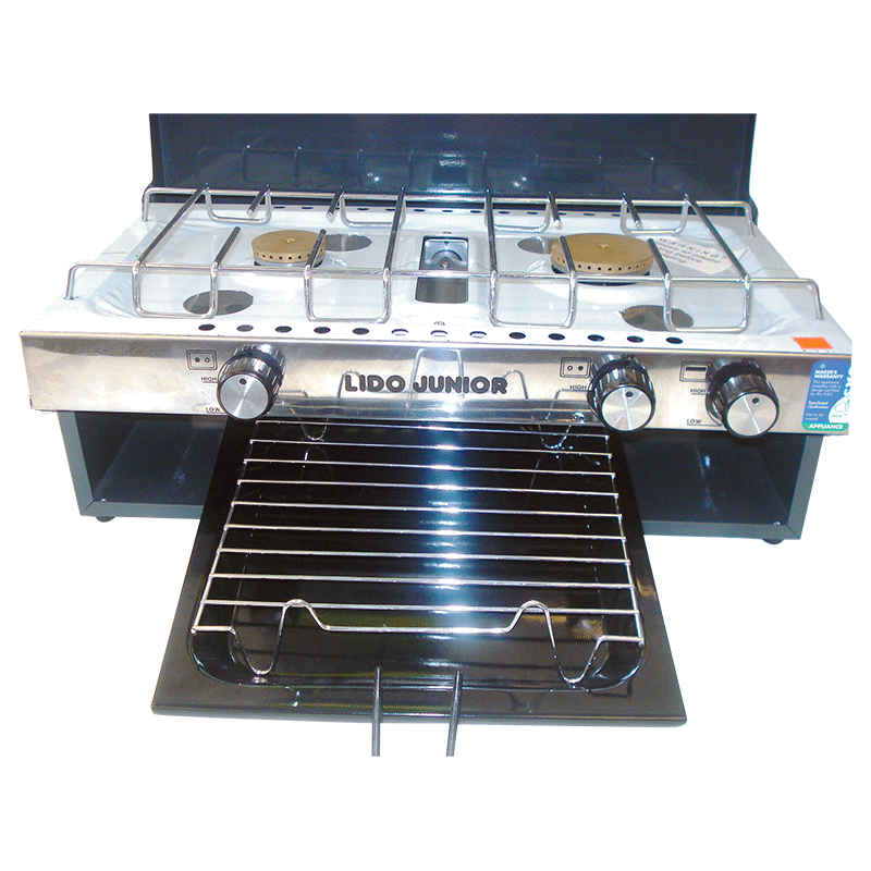 New Lido 2 Junior  Burner and Grill With Lid