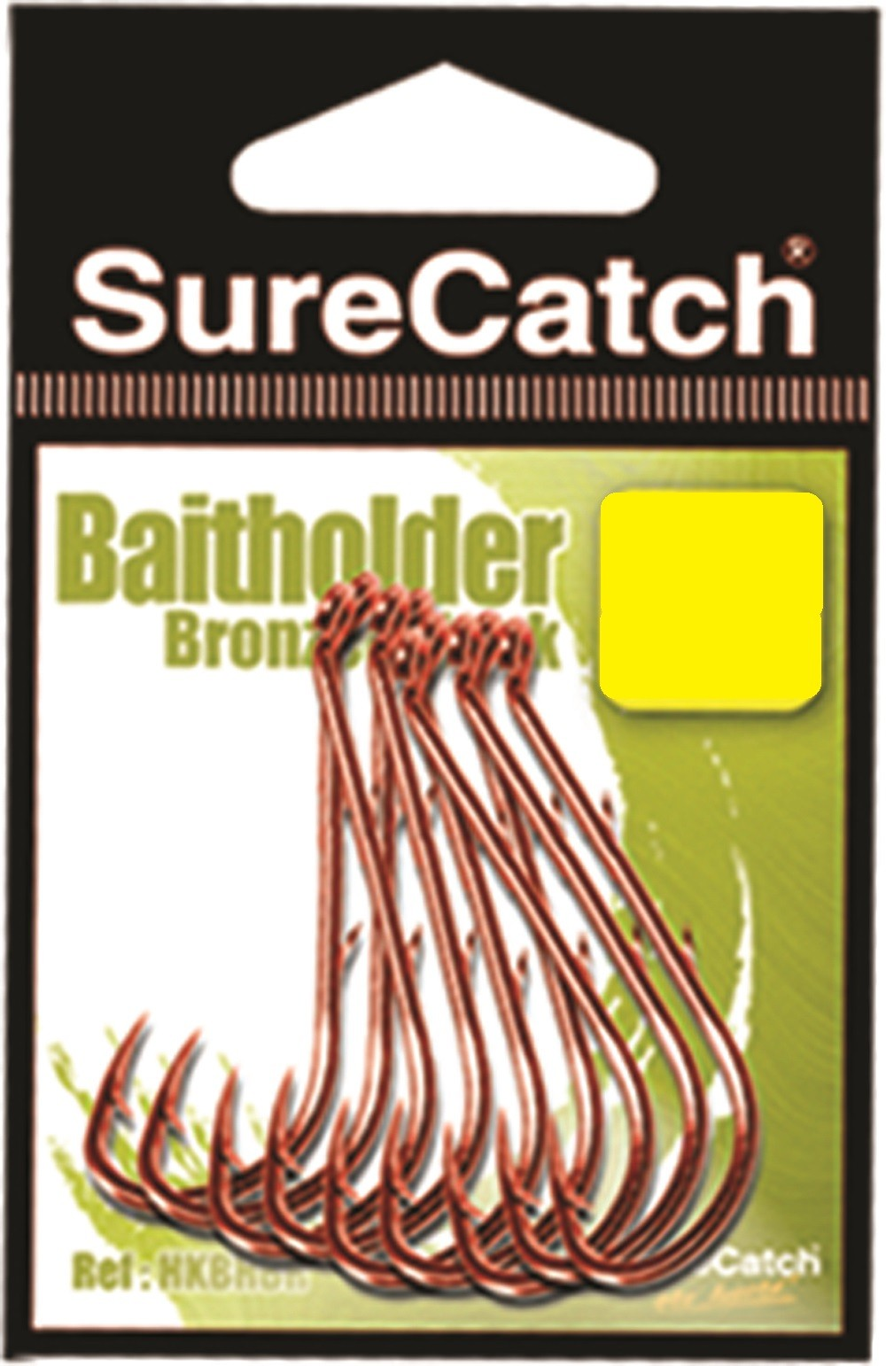 Sure Catch Bronze Baitholder Hook (8 per Pack) - Size 1/0