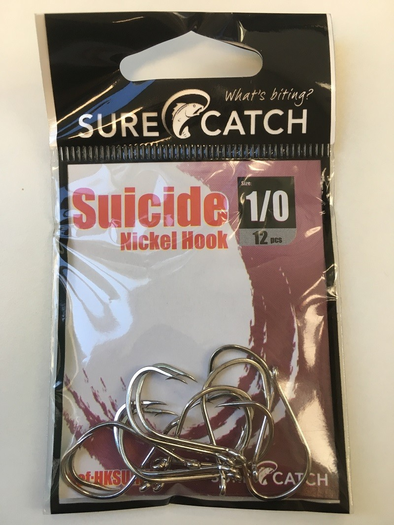Sure Catch Suicide Hook (12 Per Pack) - Size 1/0
