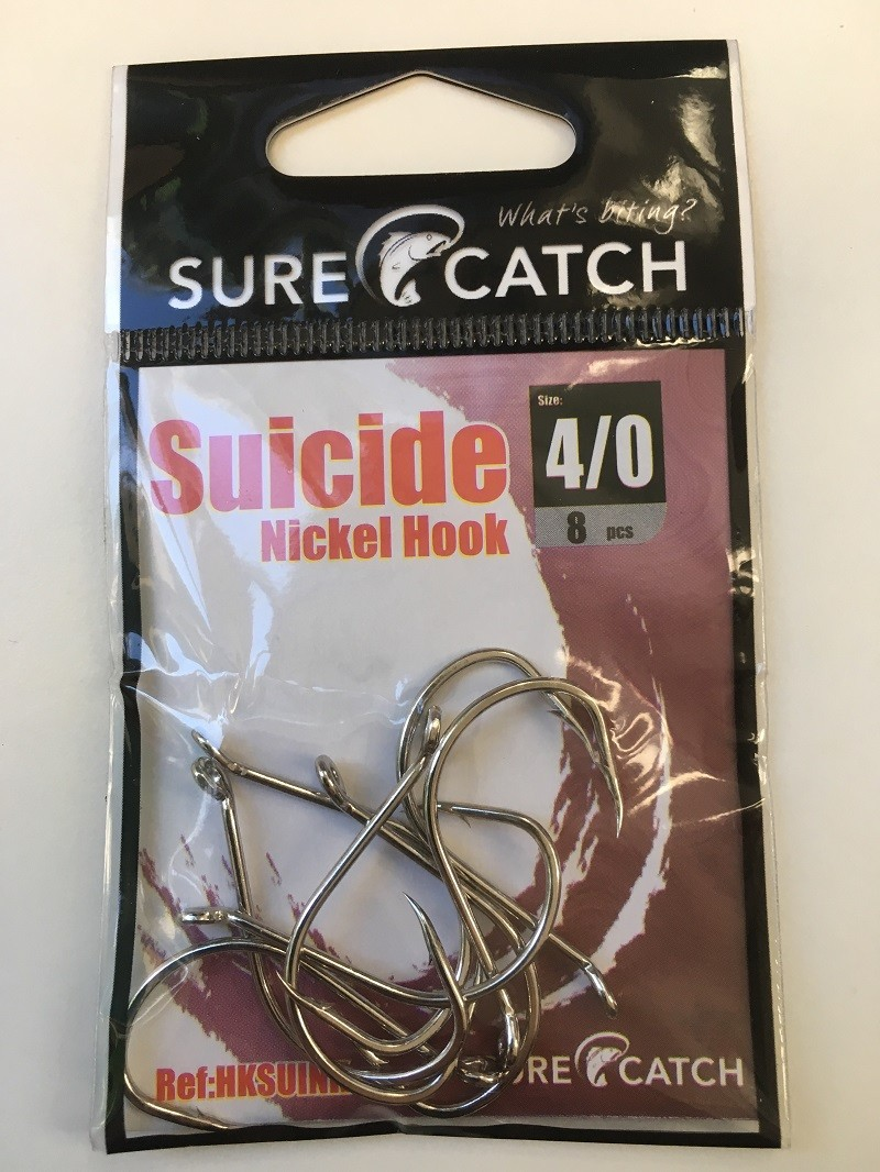 Sure Catch Suicide Hook (8 Per Pack) - Size 4/0