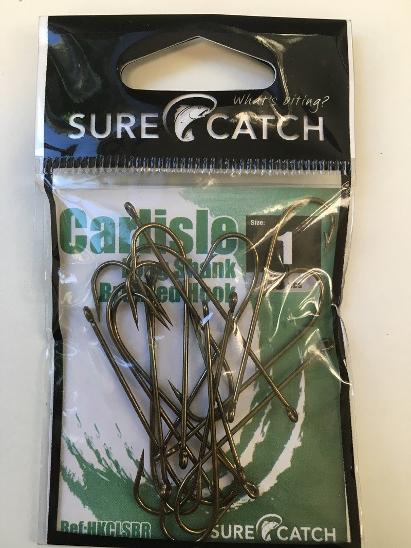 Sure Catch Bronze Carlisle Long Shank (12 per Pack) - Size 1