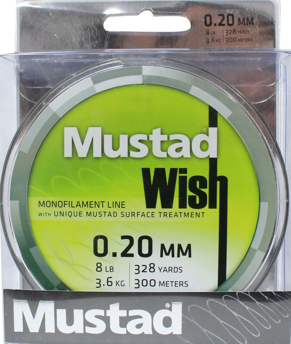 Mustad Premium WISH Monofilament Fishing Line 300m Smoke - 8lb