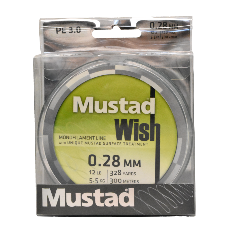 Mustad Premium WISH Monofilament Fishing Line 300m Smoke - 12lb