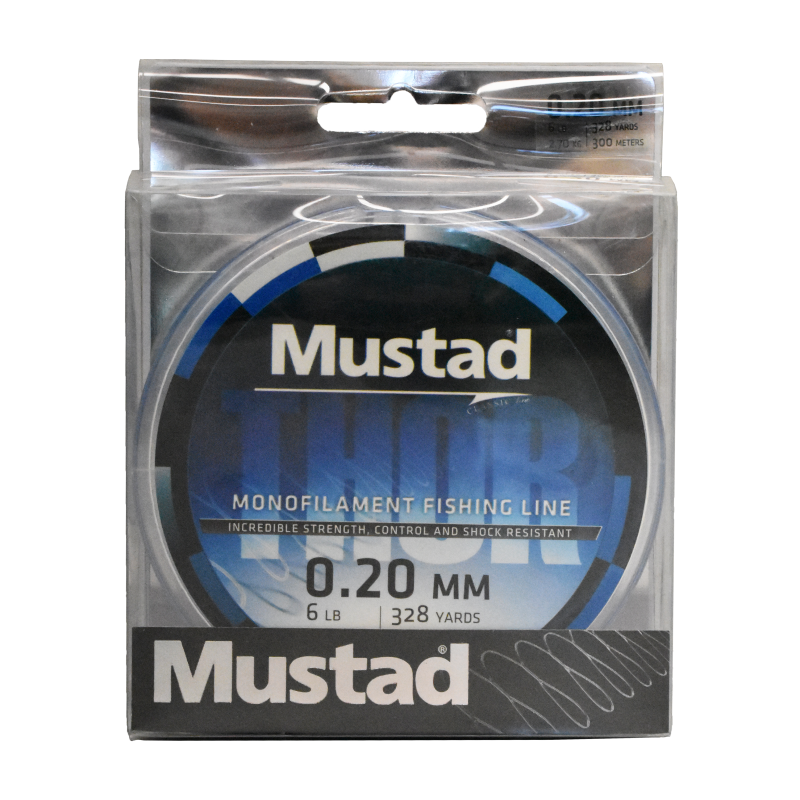 Mustad Premium THOR Monofilament Fishing Line 300m Sea Blue - 6lb