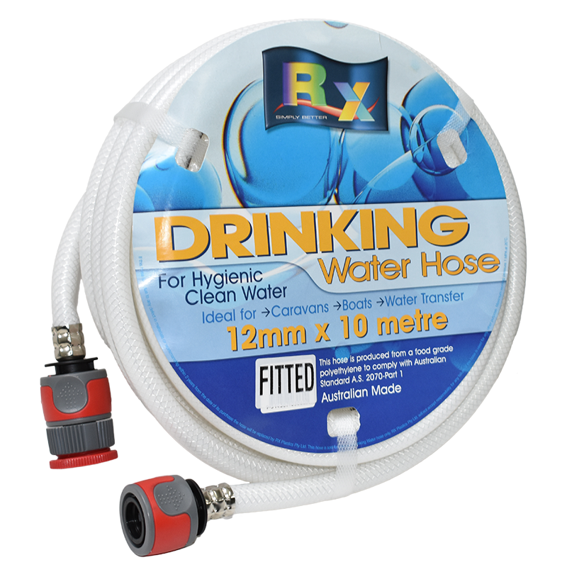 12mm White Non Toxic Water Hose With Fittings