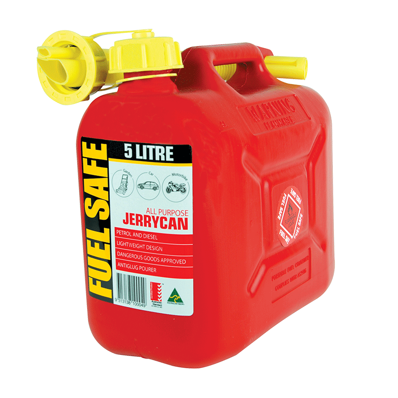 Fuel Safe All Plastic Can - 5L