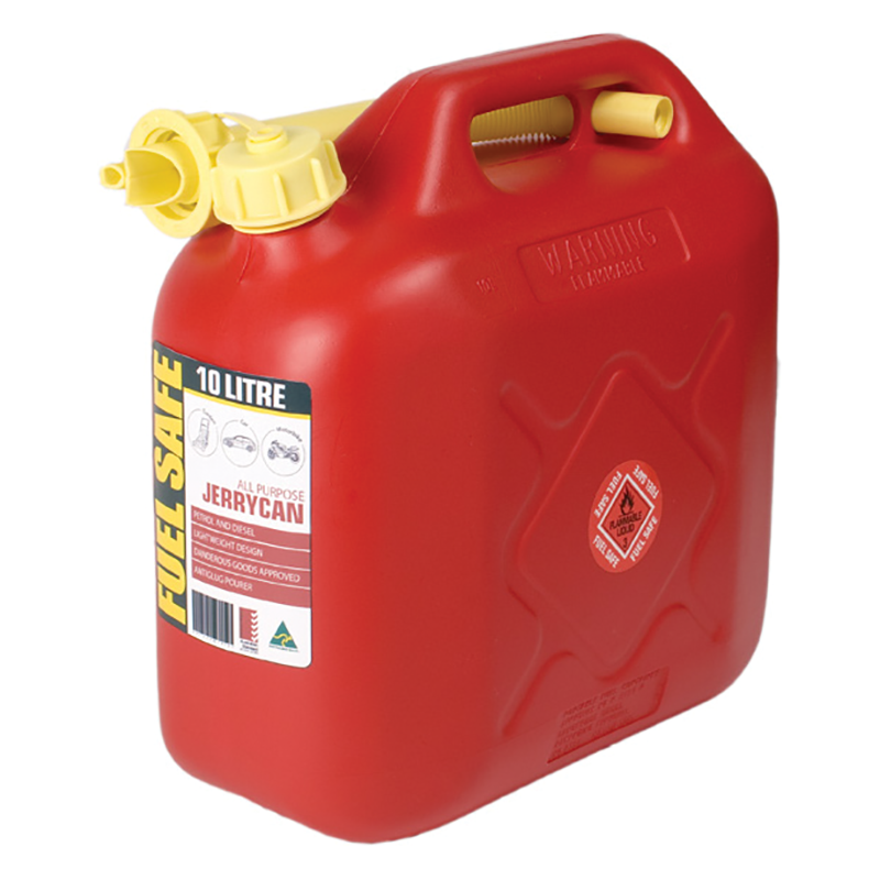 Fuel Safe All Plastic Can - 10L