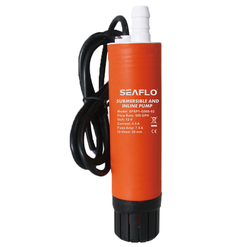 SEAFLO 500 GPH Submersible/Inline Combo 12V Water Pump