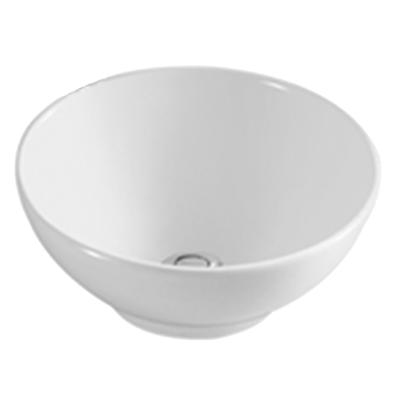 White Round Ceramic Bathroom Basin