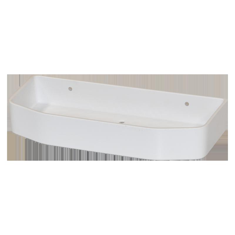 COAST Bathroom SML Commodity Basket WHITE - 250x112x40mm (LxDxH)