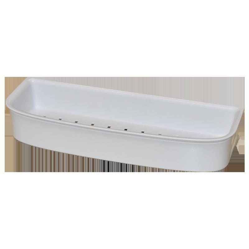 COAST Bathroom LGE Commodity Basket WHITE - 350x127x56mm (LxDxH)