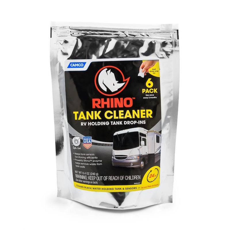 CAMCO RHINO HOLDING TANK CLEANER - 6 DROP-INS PER BAG.