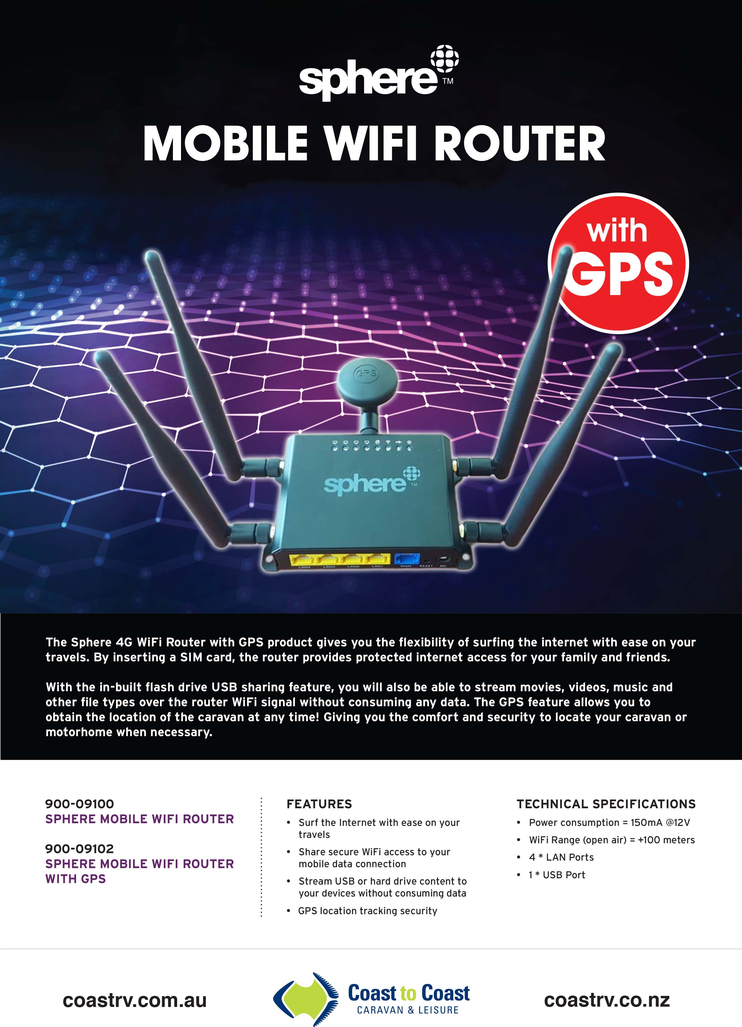 Sphere Mobile Router GPS Brochure