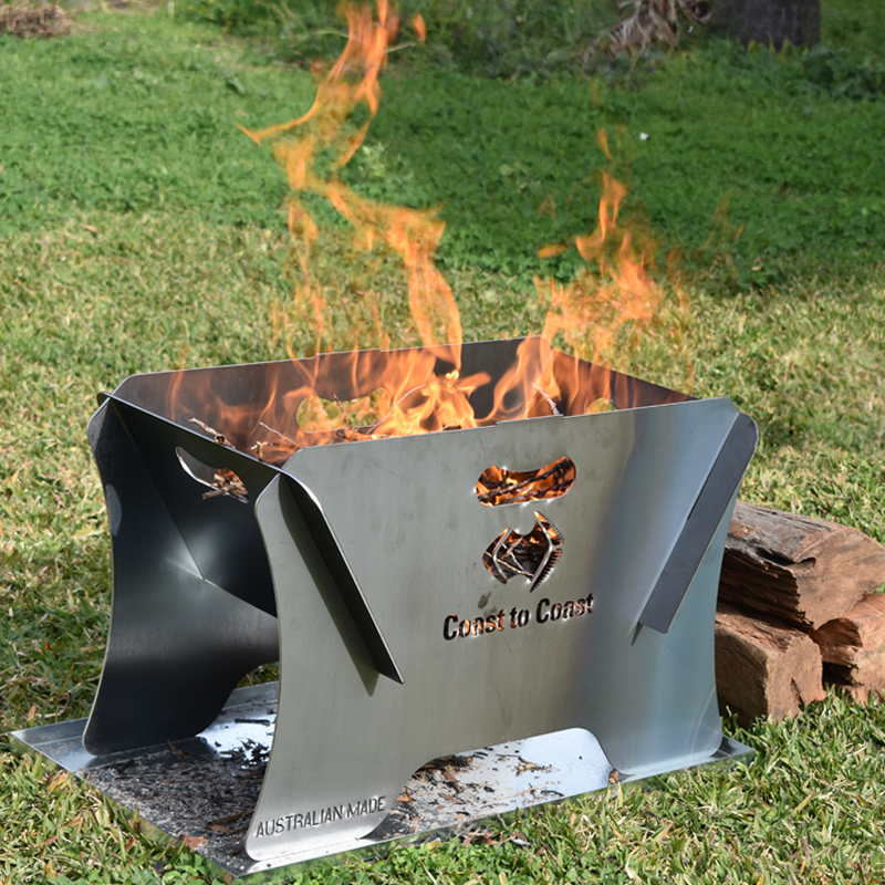 COAST STEEL Portable 400mm Firepit & Ember Tray Kit